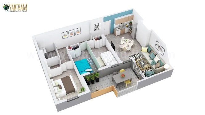 Residential Apartment Floor Plan Design
