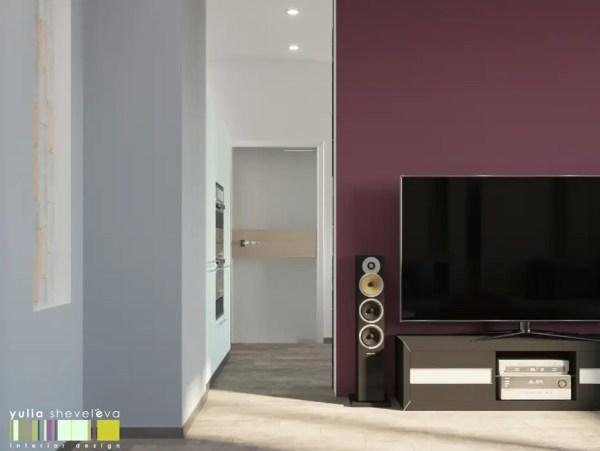 Яркий и стильный гостиные в эклектичном стиле от