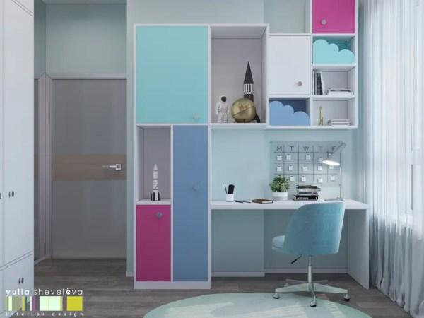 Яркий и стильный детские комната в эклектичном стиле от