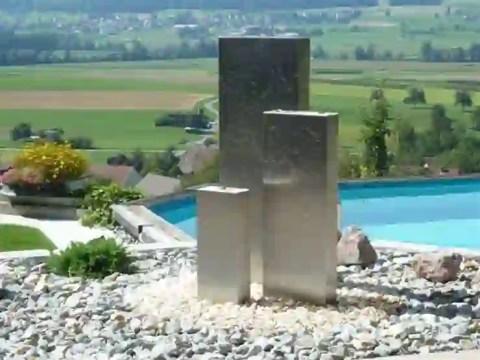 gartenbrunnen modernes design moderne gartenbrunnen