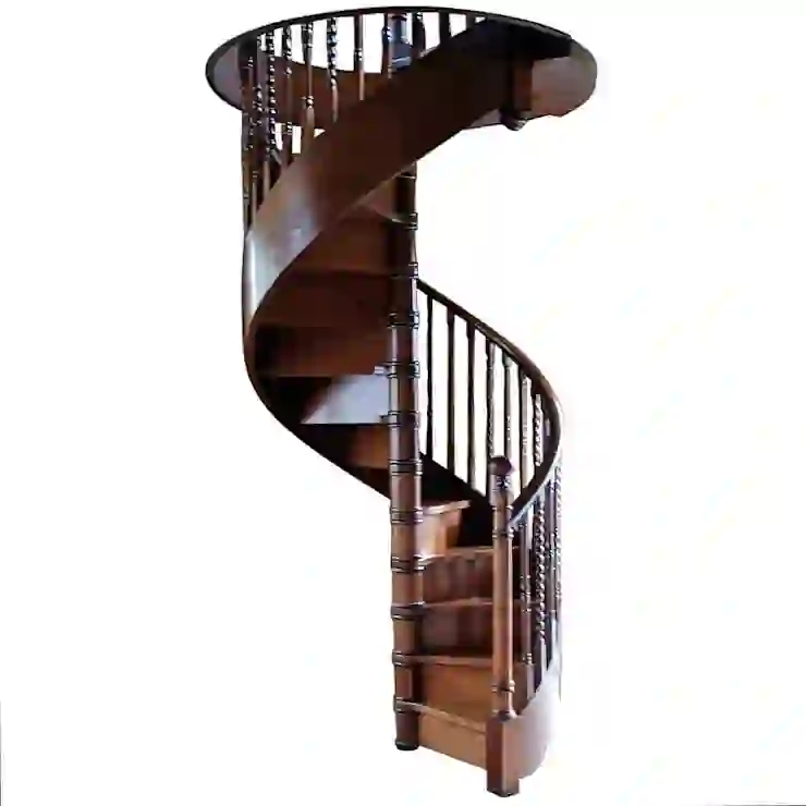 Antique Mahogany Spiral Staircase By Apollo Homify | Antique Spiral Staircase For Sale | French | Wooden | Old Fashioned | Wood Antique | Cast Iron