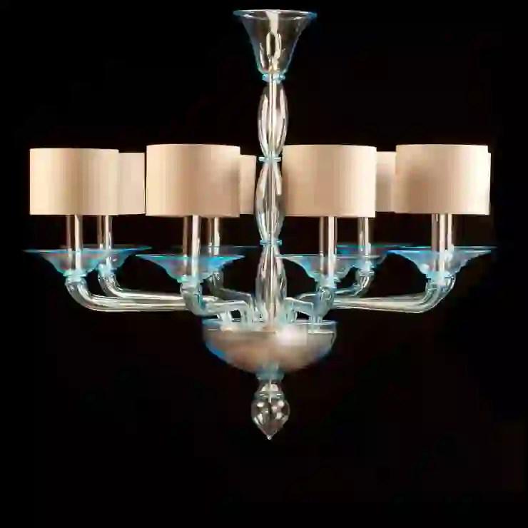 Le lampade in vetro di murano sono la scelta ideale per chi vuole dare un tocco di ricercatezza ed eleganza ai propri spazi, che si tratti di una camera da letto, un salotto o una sala da pranzo. Lampadario In Vetro Di Murano Lampadario Moderno In Vetro Azzurro Foscarini Homify