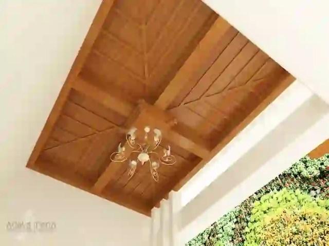 Wood Ceiling Decorative: Rumah teras oleh AIRE INTERIOR , Tropis Kayu Wood effect