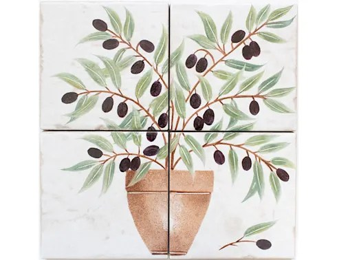 Olive Tree Hand Painted Tiles Walls Flooring By Decorum