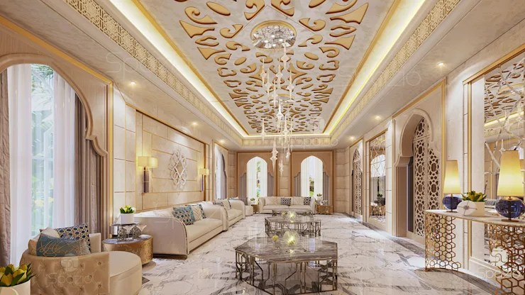 Modern Arabic Majlis In Moroccan Style Of Interior Design