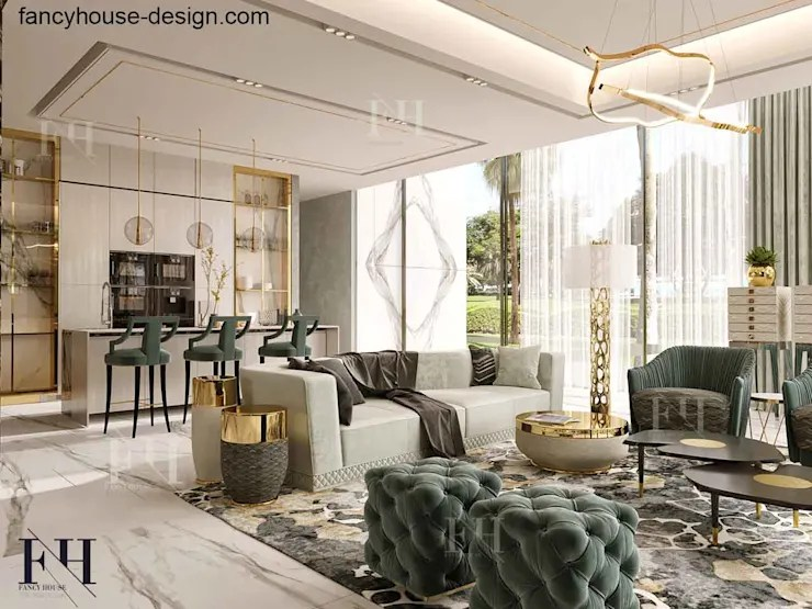 Modern interior design for a luxury house in Dubai by ... on Interior:ybeqvfpgwcq= Modern House  id=16796