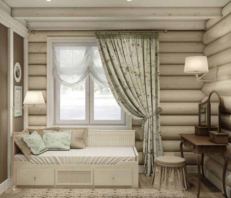 rustic Bedroom by MJMarchdesign