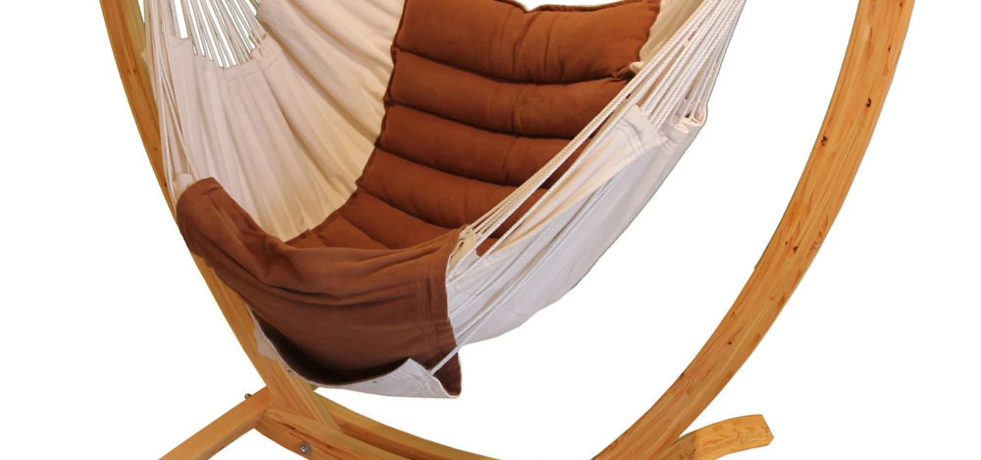 Wooden Arc Hanging Chair Stand By Maranon World Of Hammocks