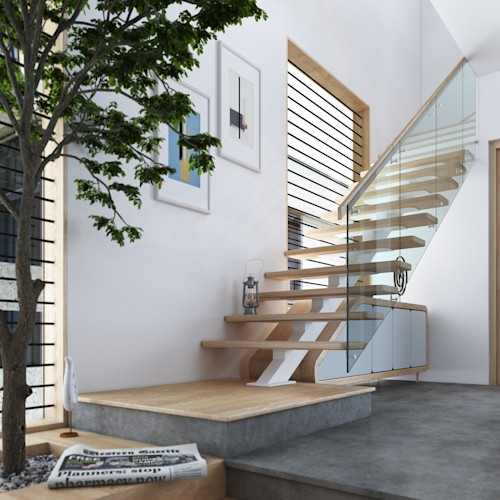Compact Staircase Ideas For Small Houses Homify Homify | Duplex House Steps Design | New | Cement | Wood | Spiral Staircase | Steel