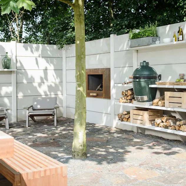 Jardines de estilo rural por NewLook Brasschaat Keukens
