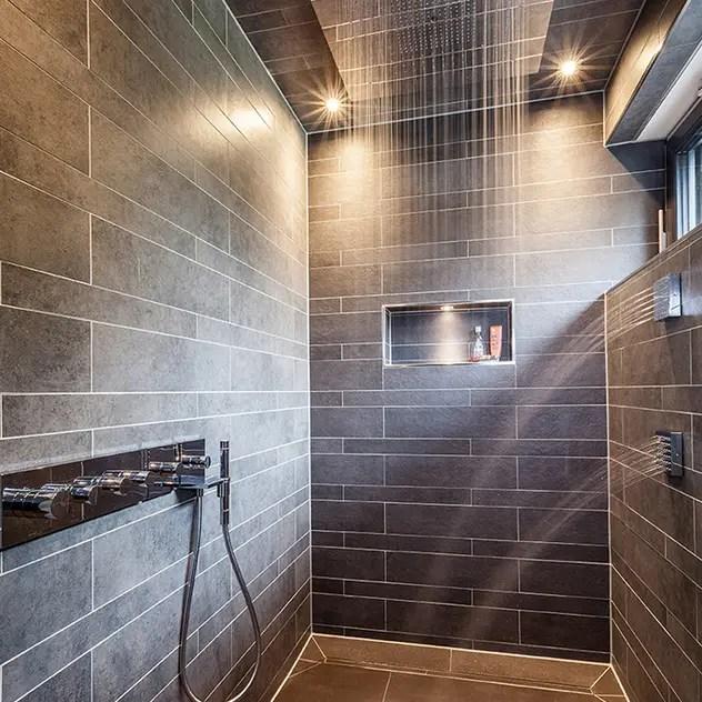 modern Bathroom by ONE!CONTACT - Planungsbüro