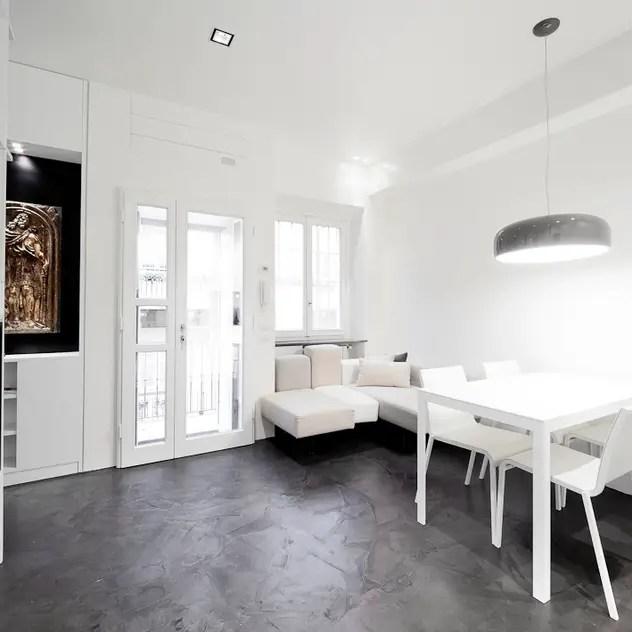 minimalistic Living room by 23bassi studio di architettura