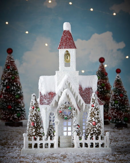 Bethany Lowe Vintage Style Christmas Church