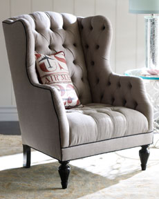 "Haute House ""Air Mail"" Tufted Chair"