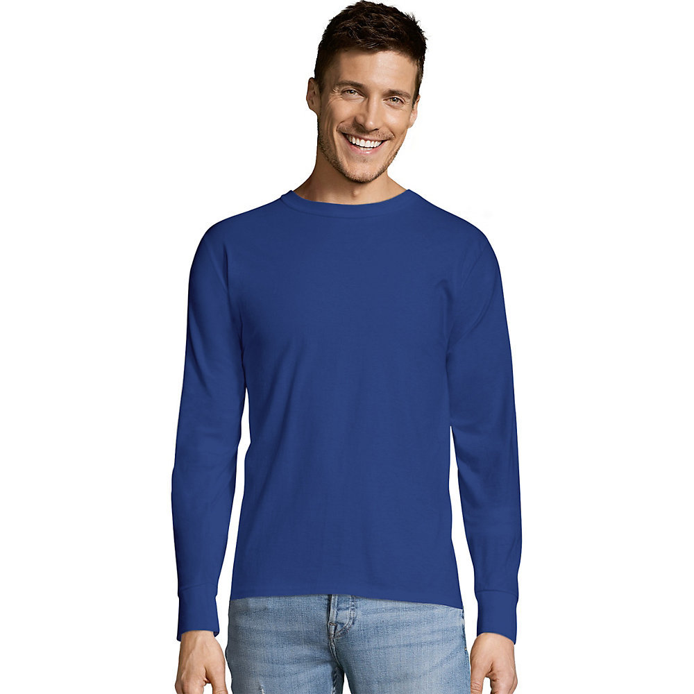 Hanes TAGLESS Long-Sleeve T-Shirt 5586 [from $6.21 ...
