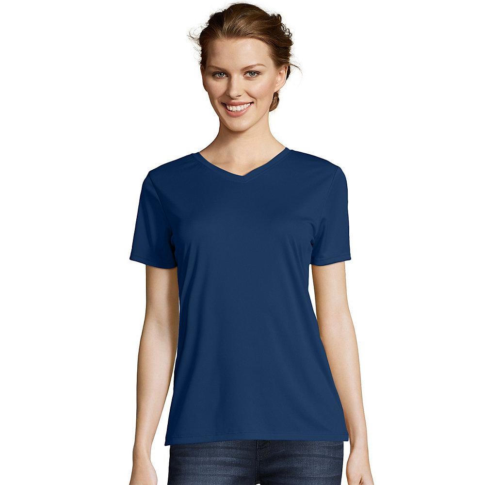 Hanes Womens Cool DRI V-Neck T-Shirt 483V [from $8.97 ...