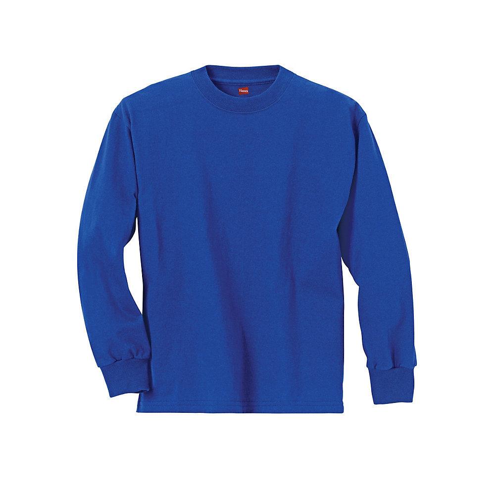Hanes Youth TAGLESS Long-Sleeve T-Shirt 5546 [$7.48 ...