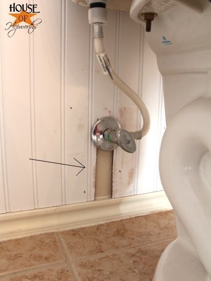Kids Bathroom Makeover Phase 1 Hanging Beadboard And Trim