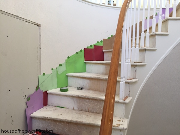 Creating Your Own Skirting For A Curved Staircase House Of Hepworths   Diy Curved Stair Railing   Spiral Staircase   Glass   Staircase Makeover   Stair Case   Railing Ideas