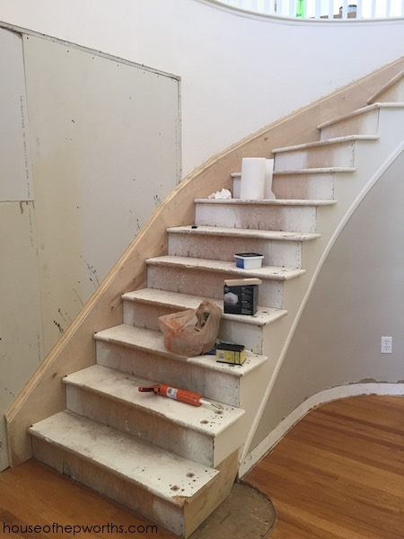 An Amazing Staircase Makeover From Carpet To Wood House Of | Carpet Stairs Wooden Floor Landing | Oak | Red Striped | Center House | Wall To Wall Carpet | Bedroom