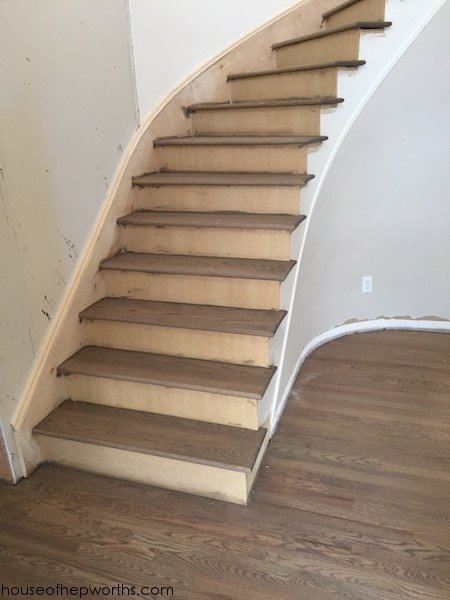 An Amazing Staircase Makeover From Carpet To Wood House Of | Hardwood Treads And Risers | Stair Nosing | Carpet | Hardwood Flooring | Red Oak | Stair Tread