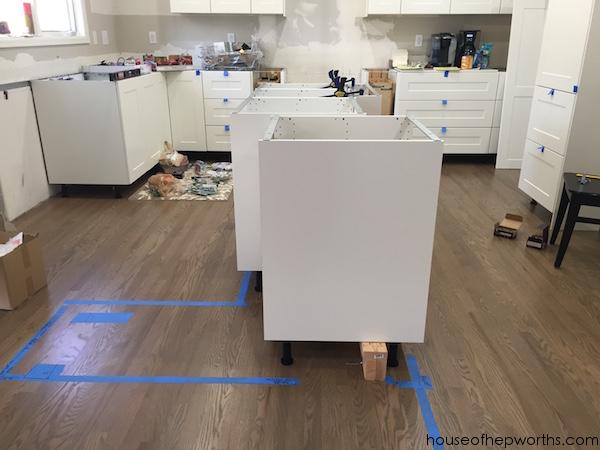 building a custom ikea kitchen island