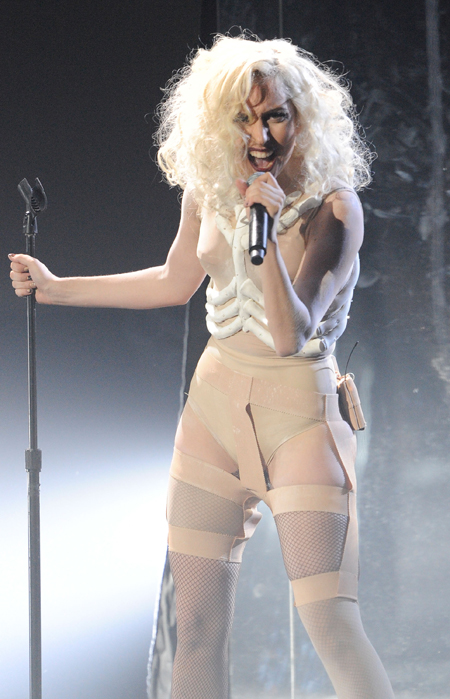Lady Gaga in Kymaro Body Shaper