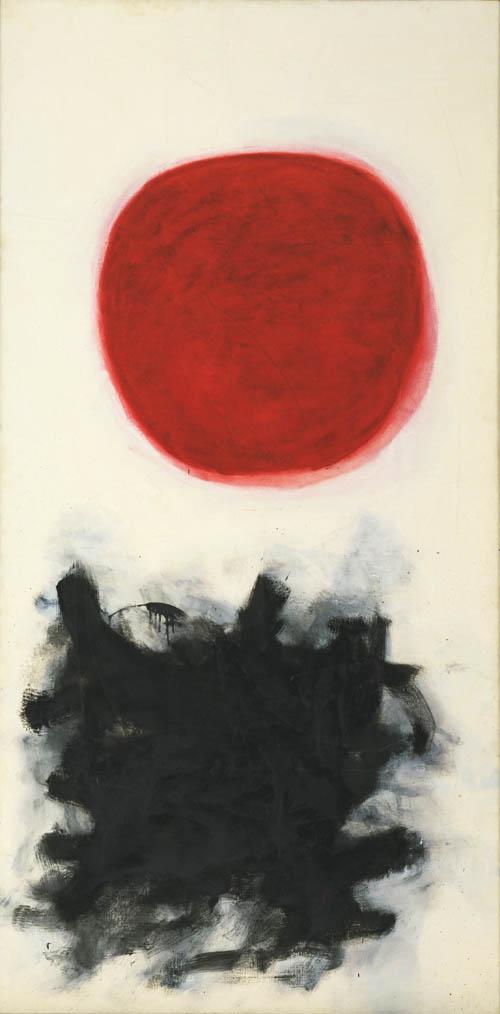 """Adolph Gottlieb, 'Blast I,' 1957, Oil on canvas, 7' 6"""" x 45 1/8"""""""