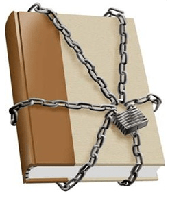 A book in chains