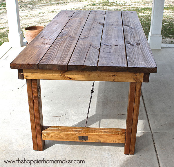 diy outdoor patio table 11 Pottery Barn-Inspired DIY Projects | HuffPost