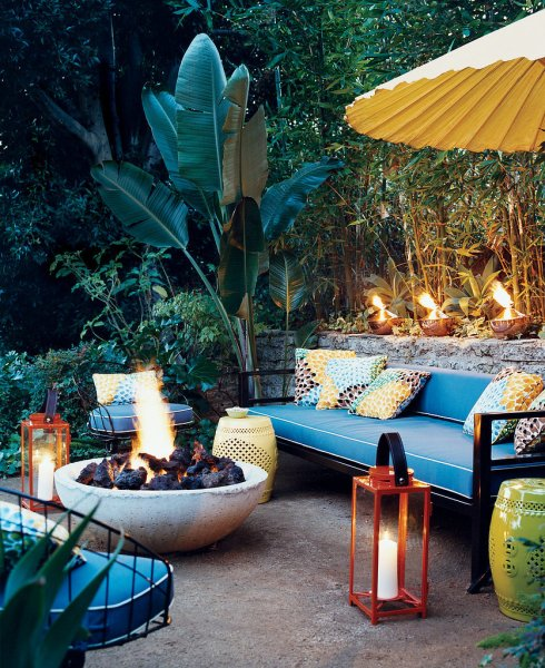 tropical outdoor patio Inside Out! Inspiration for the Perfect Outdoor Living