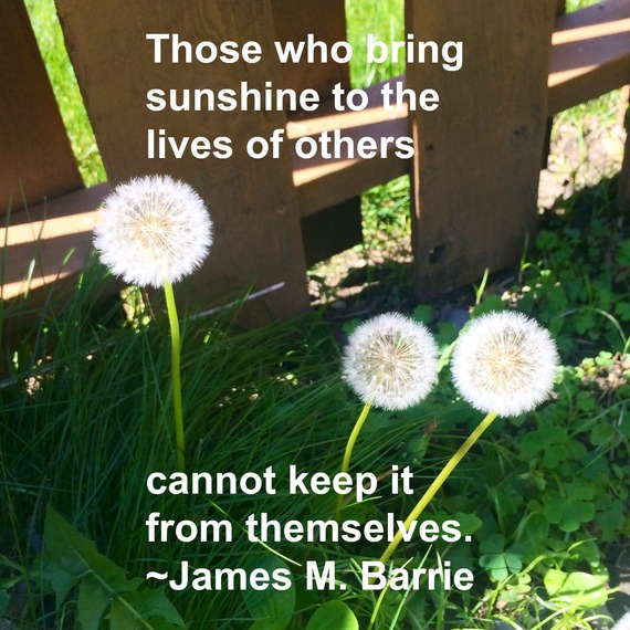 """Those who bring sunshine to the lives of others cannot keep it from themselves."" ~ James M. Barrie #quote from http://charityideasblog.com A Dozen #Inspiring Quotes for an Insightful 2015"