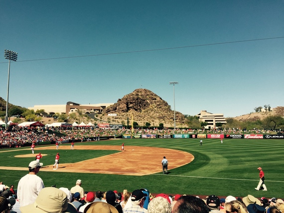 Angels baseball at Tempe Diablo Stadium. (Photo credit: Scott Bridges)