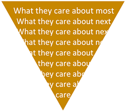 Inverted Pyramid: What they care about most