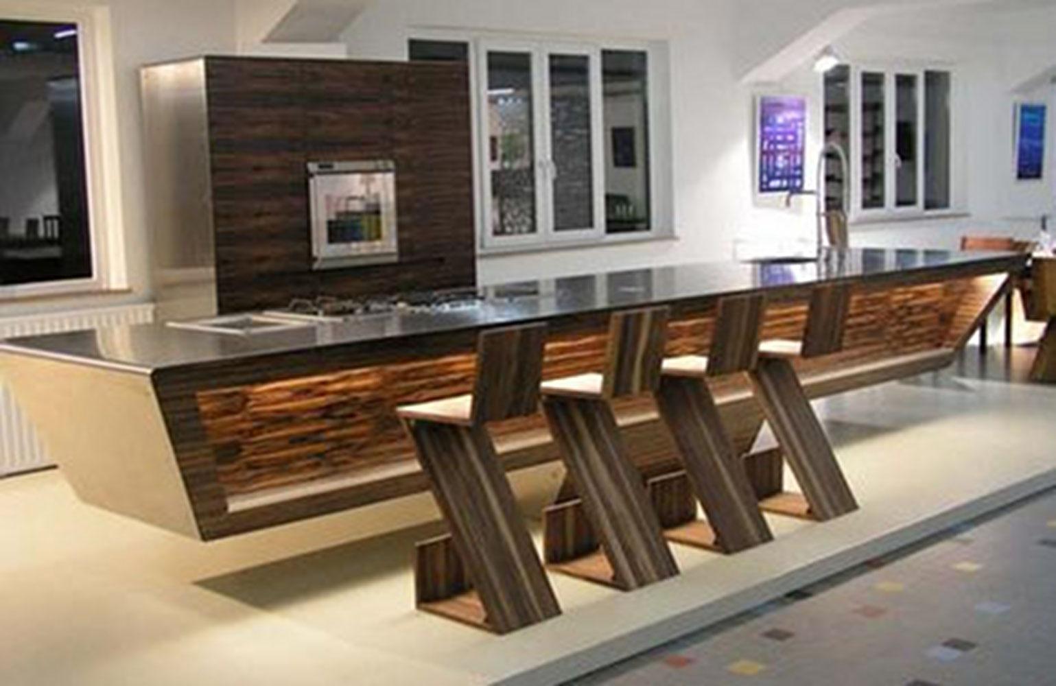 Kitchen Design White And Wood