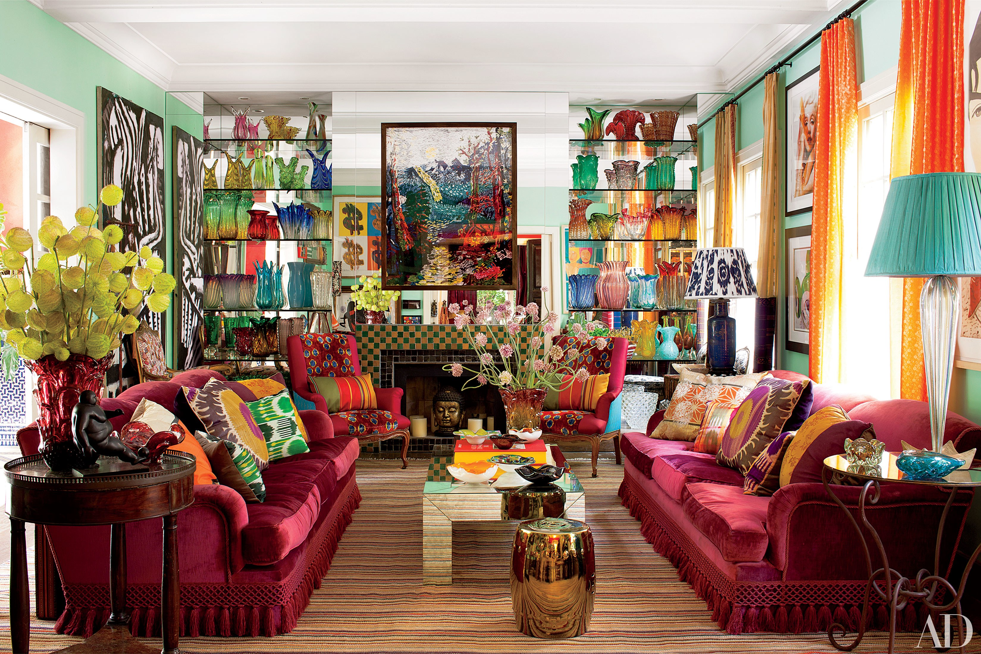 25 Bright and Colorful Room Ideas   HuffPost on Colourful Living Room  id=28753