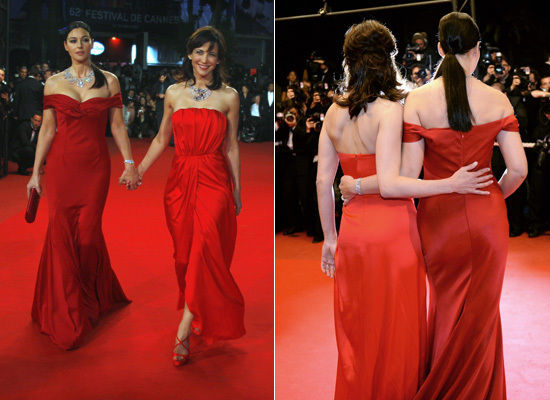 Women In Red At Cannes: Monica Bellucci & Sophie Marceau