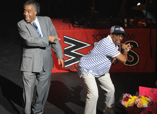 Al Sharpton & Spike Lee at Michael Jackson Memorial
