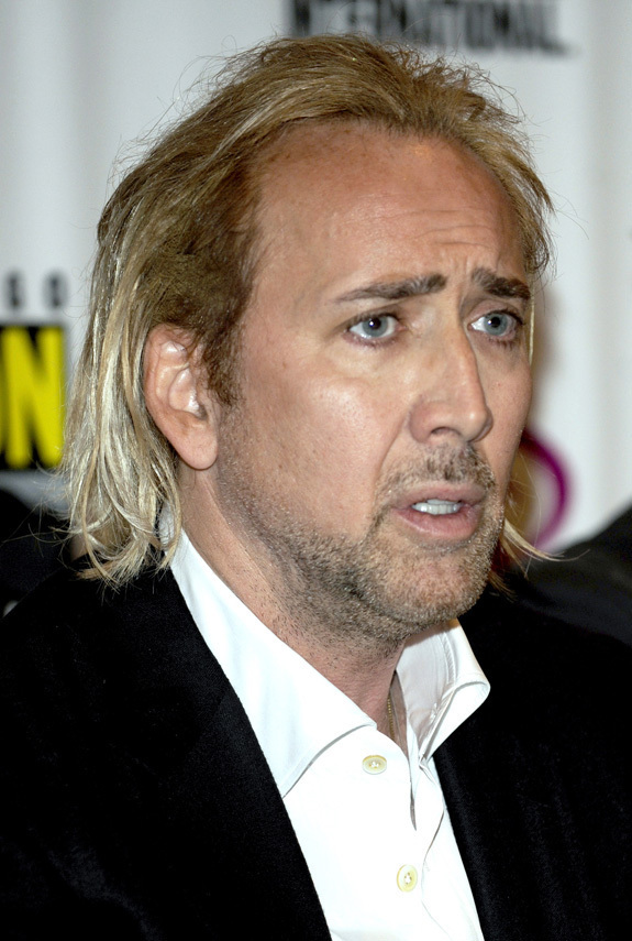Nicolas Cage Goes Blonde PHOTOS HuffPost