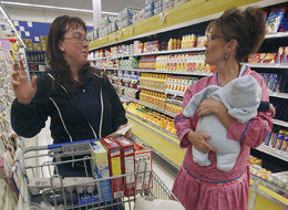 Sarah Palin and Trig in a Grocery store, which Sarah Palin also faked (there are no grocery stores in Alaska). Andrew Sullivan is certifiable, peeples, and someone oughta get around to it.