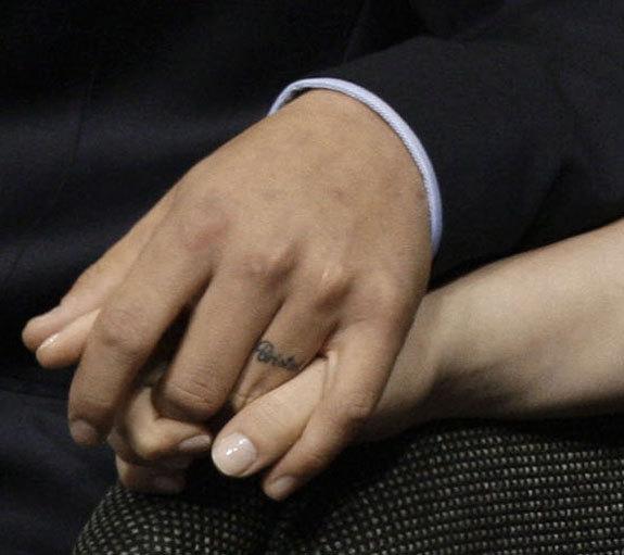"Levi Johnston's Tattoo: ""Bristol"" On Ring Finger"