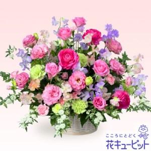 バラとスイートピーのアレンジメント(ピンク)