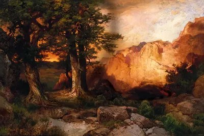 Western Sunset 1897 Canvas Wall Art By Thomas Moran ICanvas