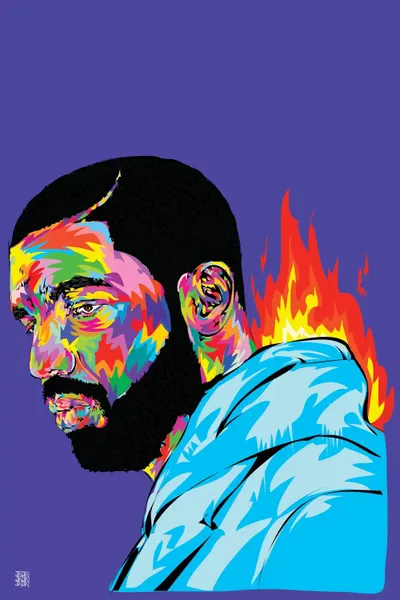 Drake Art Print By TECHNODROME1 ICanvas