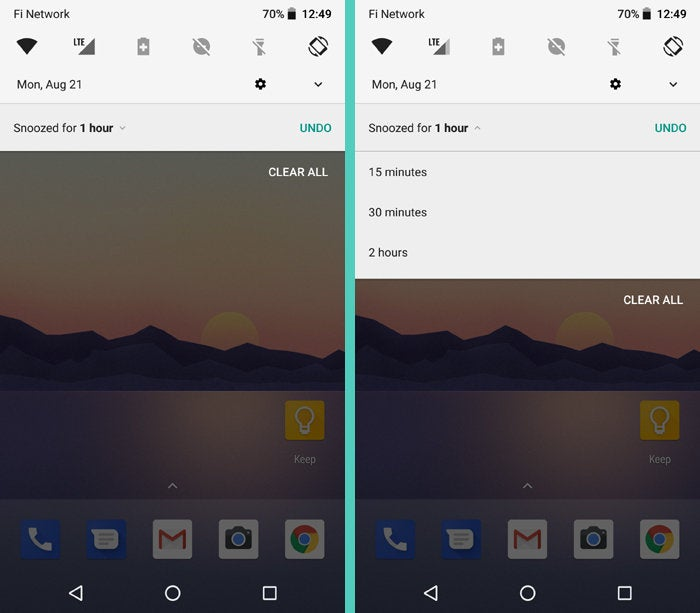 Android 8.0 Oreo: Notification Snoozing Options