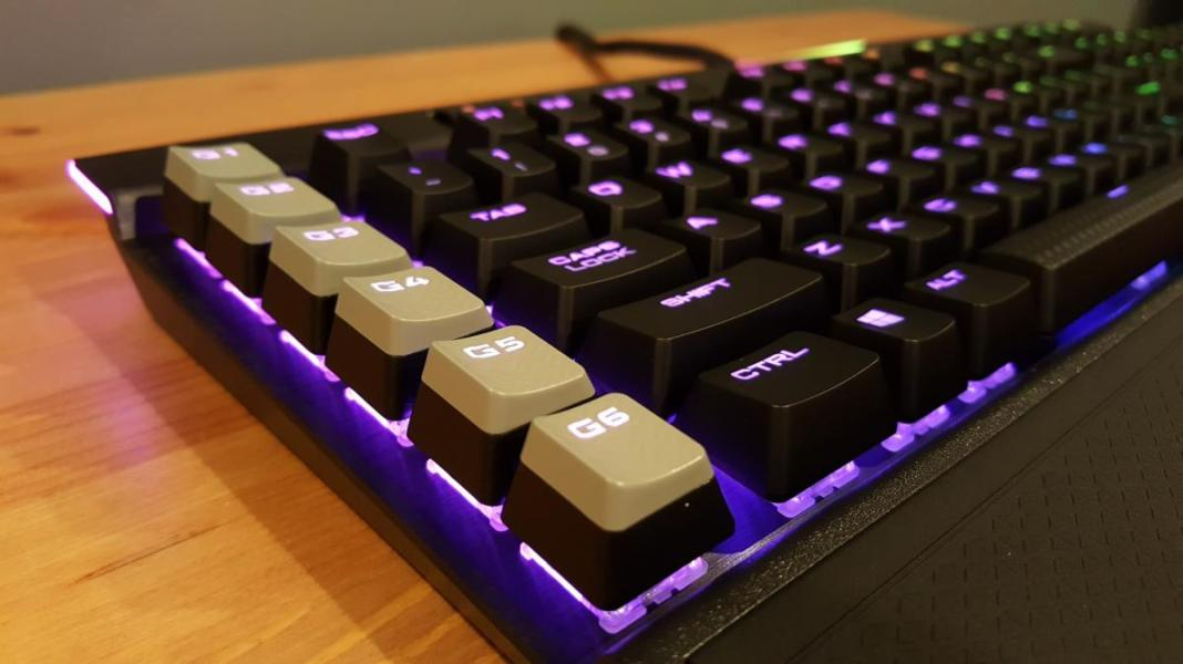 Image result for Corsair K95 RGB PLATINUM Mechanical Gaming Keyboard, Backlit RGB LED, Cherry MX Speed, Black