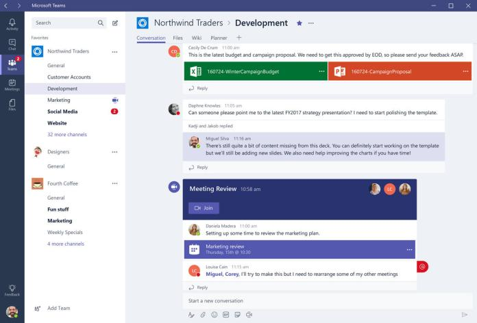 group chat services - Microsoft Teams
