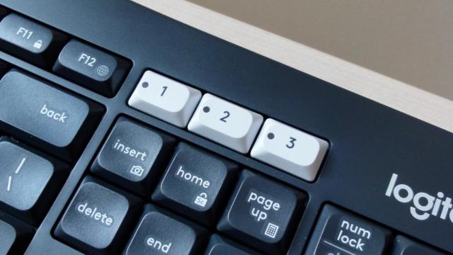 Logitech MK850 easy switch keys