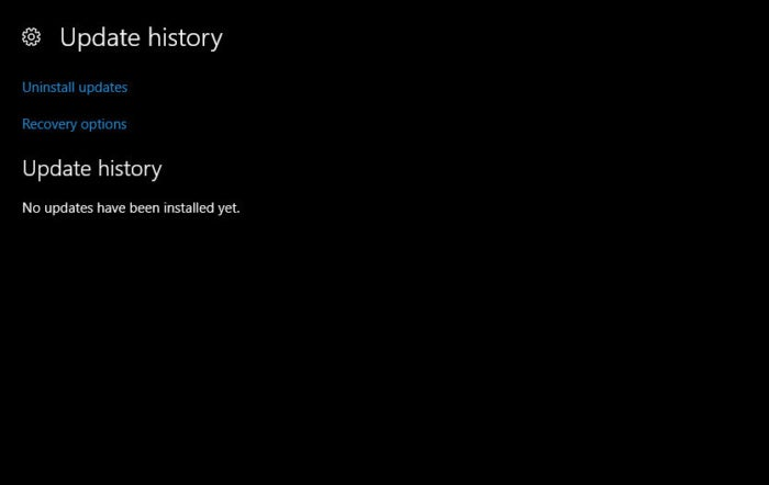 update history after