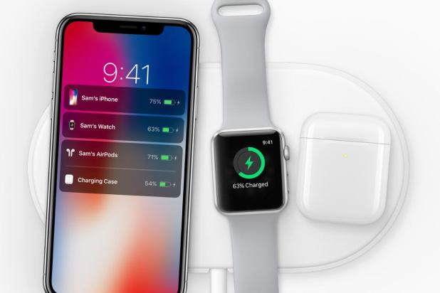 Apple iPhone X, Apple Watch Series 3, Apple AirPods - wireless charging